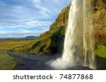 waterfall in iceland | Shutterstock . vector #74877868