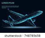abstract image of a airliner in ... | Shutterstock .eps vector #748785658