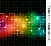 disco lights background | Shutterstock .eps vector #74878852
