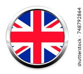button flag of great britain in ... | Shutterstock . vector #748792864