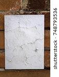 blank poster texture  crumpled  ...   Shutterstock . vector #748793536