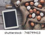 order online healthy natural... | Shutterstock . vector #748799413