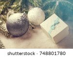 christmas decorative elements... | Shutterstock . vector #748801780