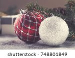 christmas decorative elements... | Shutterstock . vector #748801849