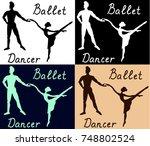ballet dancers man woman...   Shutterstock .eps vector #748802524