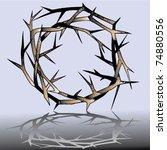 thorn crown | Shutterstock .eps vector #74880556