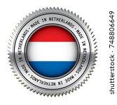 made in netherlands metal... | Shutterstock .eps vector #748806649