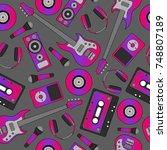 seamless flutter pattern.... | Shutterstock .eps vector #748807189