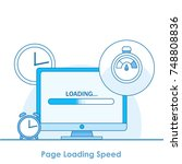 page loading speed banner.... | Shutterstock .eps vector #748808836