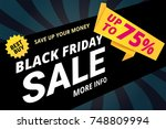 black friday sale vector banner ... | Shutterstock .eps vector #748809994
