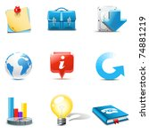 web and internet icons 3  ... | Shutterstock .eps vector #74881219