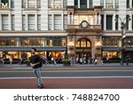 new york city   september 28 ...   Shutterstock . vector #748824700