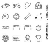 racing  set icons. automobile... | Shutterstock .eps vector #748824808