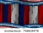 flag of usa background for... | Shutterstock .eps vector #748828978
