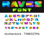 creative design vector font of... | Shutterstock .eps vector #748832596
