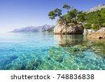 beautiful bay near brela town ... | Shutterstock . vector #748836838