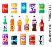 soft drinks bottles. bottled... | Shutterstock .eps vector #748837684