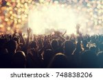 crowd at concert   cheering... | Shutterstock . vector #748838206