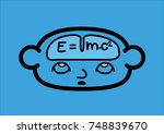 a head and a brain icon showing ... | Shutterstock .eps vector #748839670