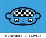 an icon representing a head... | Shutterstock .eps vector #748839679
