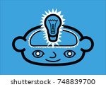 a head icon representing a... | Shutterstock .eps vector #748839700