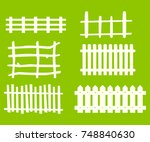 wooden fence isolated on lime... | Shutterstock .eps vector #748840630