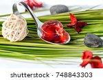 molecular food nicely prepared   Shutterstock . vector #748843303