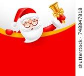 cheerful cartoon santa claus... | Shutterstock .eps vector #748847818