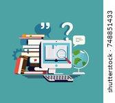 online library vector concept... | Shutterstock .eps vector #748851433