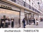 london  november  2017  chanel... | Shutterstock . vector #748851478