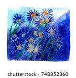 watercolor blotch | Shutterstock . vector #748852360