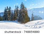 winter in the austrian alps | Shutterstock . vector #748854880