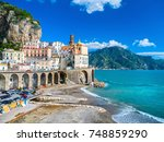 the amalfi coast in italy | Shutterstock . vector #748859290