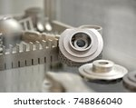object printed on metal 3d... | Shutterstock . vector #748866040