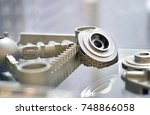 object printed on metal 3d... | Shutterstock . vector #748866058