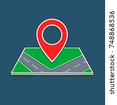 location icon with a map in... | Shutterstock .eps vector #748868536
