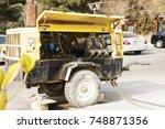 electric generator worked on... | Shutterstock . vector #748871356