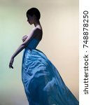 fashion studio portrait of... | Shutterstock . vector #748878250
