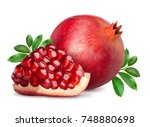 Pomegranate Fruit With Slice...