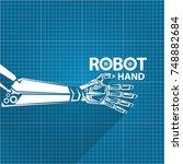 vector robotic arm symbol on... | Shutterstock .eps vector #748882684