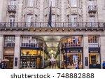 london  november  2017 ... | Shutterstock . vector #748882888