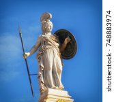 Small photo of Greece, statue of Athena the ancient goddess of wisdom and knowledge