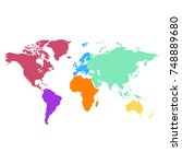 color world map vector | Shutterstock .eps vector #748889680