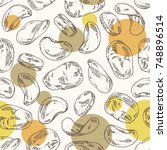 seamless pattern with chips... | Shutterstock .eps vector #748896514
