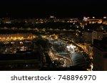 monaco harbour by night | Shutterstock . vector #748896970