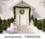 3d rendering. christmas... | Shutterstock . vector #748900309