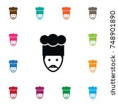 isolated chef icon. gastronomy... | Shutterstock .eps vector #748901890