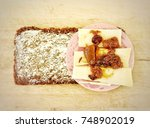 sandwich lunch box preparation... | Shutterstock . vector #748902019