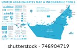 united arab emirates map  ... | Shutterstock .eps vector #748904719