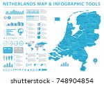netherlands map   detailed info ... | Shutterstock .eps vector #748904854